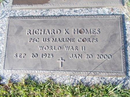 HOMES (VETERAN WWII), RICHARD K (NEW) - Hancock County, Mississippi | RICHARD K (NEW) HOMES (VETERAN WWII) - Mississippi Gravestone Photos