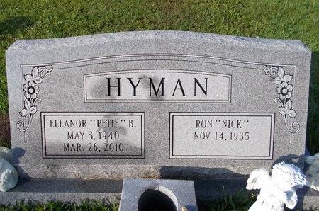 "HYMAN, ELEANOR ""PETIE"" - Hancock County, Mississippi | ELEANOR ""PETIE"" HYMAN - Mississippi Gravestone Photos"