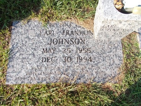 JOHNSON, EARL FRANKLIN - Hancock County, Mississippi   EARL FRANKLIN JOHNSON - Mississippi Gravestone Photos