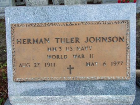 JOHNSON (VETERAN WWII), HERMAN TULER (NEW) - Hancock County, Mississippi   HERMAN TULER (NEW) JOHNSON (VETERAN WWII) - Mississippi Gravestone Photos