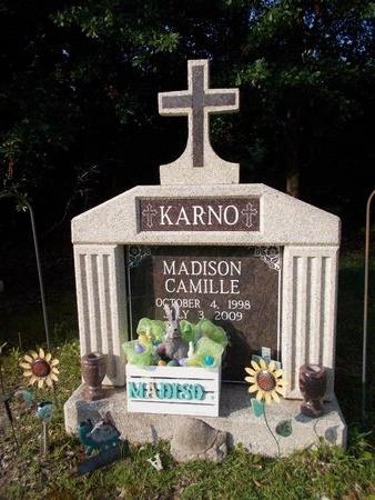KARNO, MADISON CAMILLE - Hancock County, Mississippi   MADISON CAMILLE KARNO - Mississippi Gravestone Photos