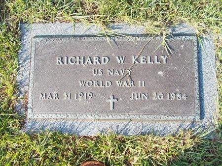 KELLY (VETERAN WWII), RICHARD W (NEW) - Hancock County, Mississippi | RICHARD W (NEW) KELLY (VETERAN WWII) - Mississippi Gravestone Photos
