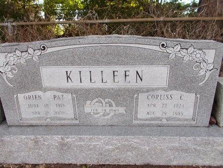 KILLEEN, CORLISS C - Hancock County, Mississippi | CORLISS C KILLEEN - Mississippi Gravestone Photos