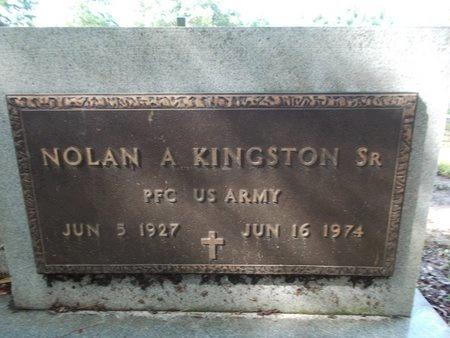 KINGSTON (VETERAN), NOLAN A., SR (NEW) - Hancock County, Mississippi   NOLAN A., SR (NEW) KINGSTON (VETERAN) - Mississippi Gravestone Photos