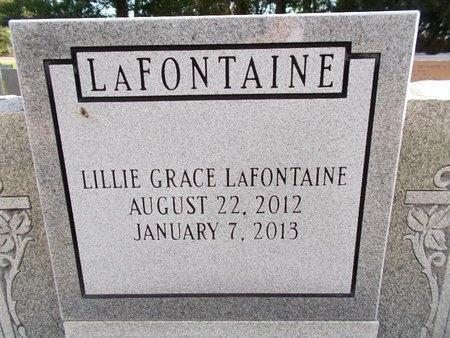 LAFONTAINE, LILLIE GRACE (CLOSE UP) - Hancock County, Mississippi   LILLIE GRACE (CLOSE UP) LAFONTAINE - Mississippi Gravestone Photos