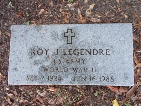LEGENDRE (VETERAN WWII), ROY J (NEW) - Hancock County, Mississippi | ROY J (NEW) LEGENDRE (VETERAN WWII) - Mississippi Gravestone Photos