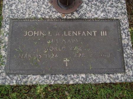 LENFANT (VETERAN WWII), JOHN L A (NEW) - Hancock County, Mississippi   JOHN L A (NEW) LENFANT (VETERAN WWII) - Mississippi Gravestone Photos