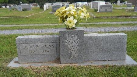 LYONS, OLIVE B - Hancock County, Mississippi   OLIVE B LYONS - Mississippi Gravestone Photos