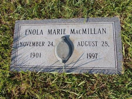 MACMILLAN, ENOLA MARIE - Hancock County, Mississippi | ENOLA MARIE MACMILLAN - Mississippi Gravestone Photos