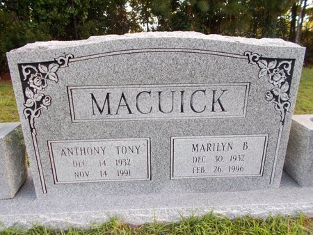MACUICK, MARILYN B - Hancock County, Mississippi | MARILYN B MACUICK - Mississippi Gravestone Photos