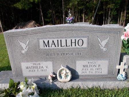 "MAILLHO, MILTON P ""RAGS"" - Hancock County, Mississippi | MILTON P ""RAGS"" MAILLHO - Mississippi Gravestone Photos"