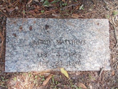 MATTHEWS, RANDY - Hancock County, Mississippi   RANDY MATTHEWS - Mississippi Gravestone Photos