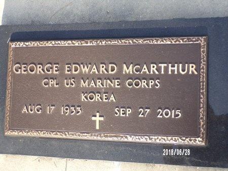 MCARTHUR (VETERAN KOR), GEORGE EDWARD (NEW) - Hancock County, Mississippi | GEORGE EDWARD (NEW) MCARTHUR (VETERAN KOR) - Mississippi Gravestone Photos