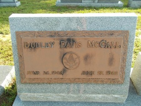 MCCALL, DUDLEY DAVIS - Hancock County, Mississippi | DUDLEY DAVIS MCCALL - Mississippi Gravestone Photos