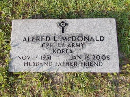MCDONALD (VETERAN KOR), ALFRED L (NEW) - Hancock County, Mississippi | ALFRED L (NEW) MCDONALD (VETERAN KOR) - Mississippi Gravestone Photos