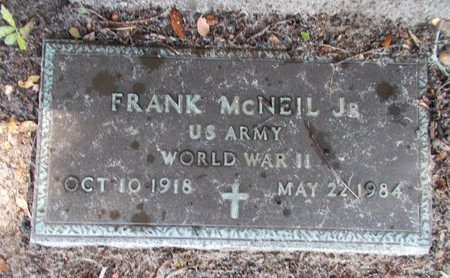 MCNEIL (VETERAN WWII), FRANK, JR (NEW) - Hancock County, Mississippi | FRANK, JR (NEW) MCNEIL (VETERAN WWII) - Mississippi Gravestone Photos