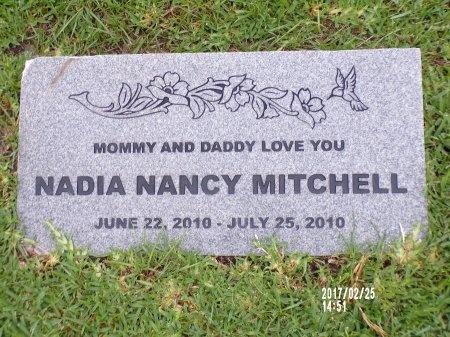 MITCHELL, NADIA NANCY - Hancock County, Mississippi | NADIA NANCY MITCHELL - Mississippi Gravestone Photos