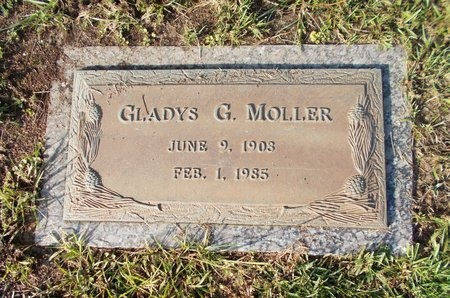 MOLLER, GLADYS G - Hancock County, Mississippi | GLADYS G MOLLER - Mississippi Gravestone Photos