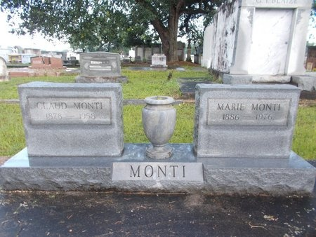 MONTI, CLAUD - Hancock County, Mississippi | CLAUD MONTI - Mississippi Gravestone Photos