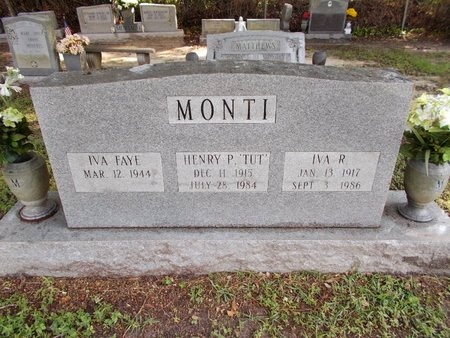"MONTI, HENRY P ""TUT"" - Hancock County, Mississippi 