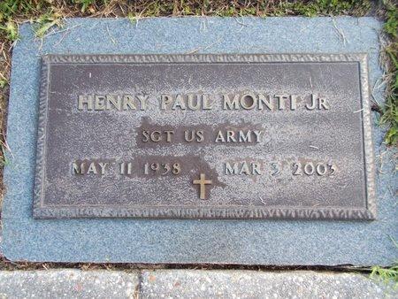 MONTI (VETERAN), HENRY PAUL, JR (NEW) - Hancock County, Mississippi | HENRY PAUL, JR (NEW) MONTI (VETERAN) - Mississippi Gravestone Photos