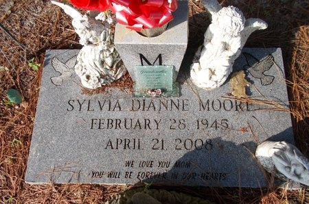 MOORE, SYLVIA DIANNE - Hancock County, Mississippi | SYLVIA DIANNE MOORE - Mississippi Gravestone Photos