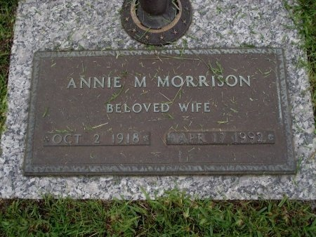 MORRISON, ANNIE M - Hancock County, Mississippi | ANNIE M MORRISON - Mississippi Gravestone Photos