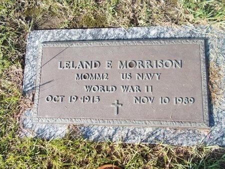 MORRISON (VETERAN WWII), LELAND E (NEW) - Hancock County, Mississippi | LELAND E (NEW) MORRISON (VETERAN WWII) - Mississippi Gravestone Photos