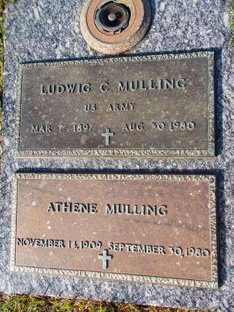 MULLING (VETERAN), LUDWIG C (NEW) - Hancock County, Mississippi   LUDWIG C (NEW) MULLING (VETERAN) - Mississippi Gravestone Photos