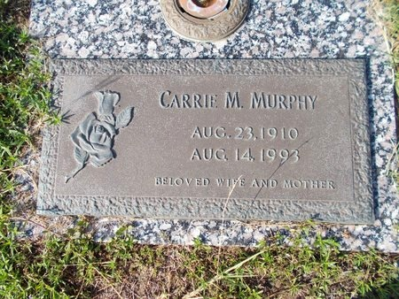 MURPHY, CARRIE M - Hancock County, Mississippi | CARRIE M MURPHY - Mississippi Gravestone Photos