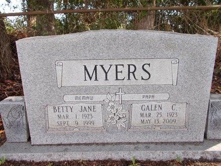 MYERS, GALEN C - Hancock County, Mississippi | GALEN C MYERS - Mississippi Gravestone Photos