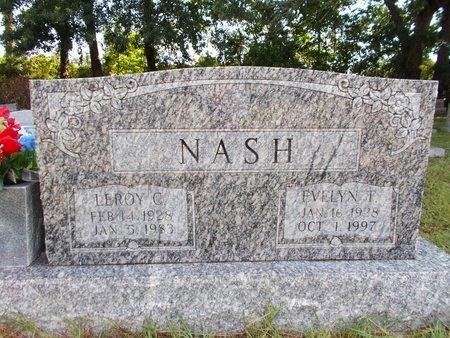 NASH, LEROY C - Hancock County, Mississippi | LEROY C NASH - Mississippi Gravestone Photos