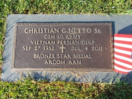 NETTO (VETERAN 2 WARS), CHRISTIAN C., SR (NEW) - Hancock County, Mississippi | CHRISTIAN C., SR (NEW) NETTO (VETERAN 2 WARS) - Mississippi Gravestone Photos