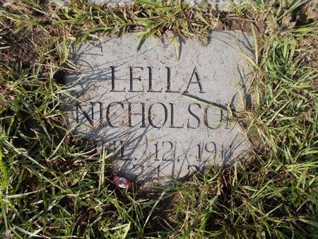 NICHOLSON, LELLA - Hancock County, Mississippi | LELLA NICHOLSON - Mississippi Gravestone Photos