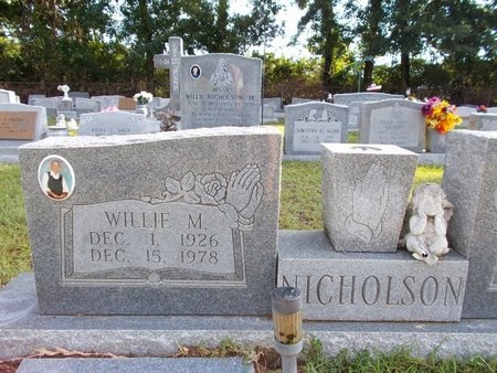 NICHOLSON, WILLIE M - Hancock County, Mississippi | WILLIE M NICHOLSON - Mississippi Gravestone Photos