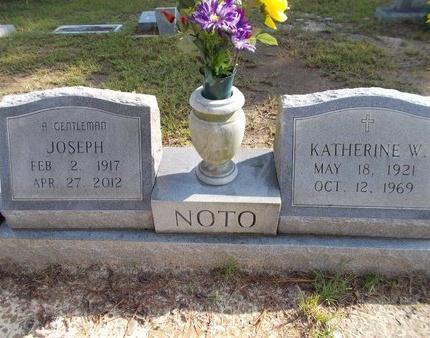 NOTO, KATHERINE W - Hancock County, Mississippi | KATHERINE W NOTO - Mississippi Gravestone Photos