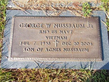 NUSSBAUM (VETERAN VIET), GEORGE W (NEW) - Hancock County, Mississippi | GEORGE W (NEW) NUSSBAUM (VETERAN VIET) - Mississippi Gravestone Photos