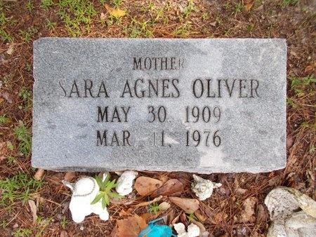 OLIVER, SARA AGNES - Hancock County, Mississippi | SARA AGNES OLIVER - Mississippi Gravestone Photos