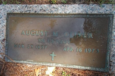OLIVER (VETERAN), AUGUST M (NEW) - Hancock County, Mississippi | AUGUST M (NEW) OLIVER (VETERAN) - Mississippi Gravestone Photos
