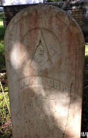 ORR, JOHN - Hancock County, Mississippi | JOHN ORR - Mississippi Gravestone Photos