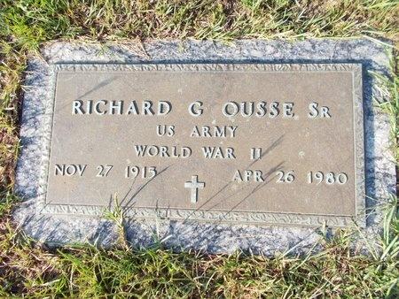 OUSSE (VETERAN WWII), RICHARD G., SR (NEW) - Hancock County, Mississippi | RICHARD G., SR (NEW) OUSSE (VETERAN WWII) - Mississippi Gravestone Photos