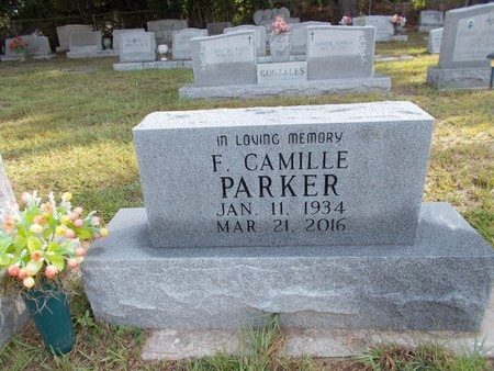 PARKER, F CAMILLE - Hancock County, Mississippi | F CAMILLE PARKER - Mississippi Gravestone Photos