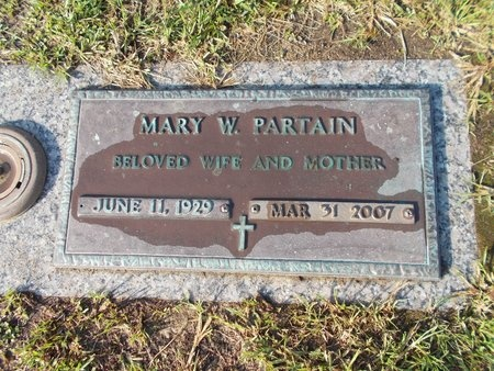 PARTAIN, MARY W - Hancock County, Mississippi | MARY W PARTAIN - Mississippi Gravestone Photos