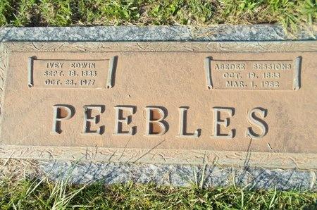 SESSIONS PEEBLES, ABEDEE - Hancock County, Mississippi | ABEDEE SESSIONS PEEBLES - Mississippi Gravestone Photos