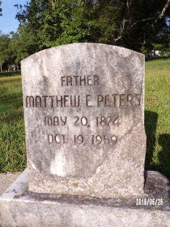 PETERS, MATTHEWS E - Hancock County, Mississippi | MATTHEWS E PETERS - Mississippi Gravestone Photos