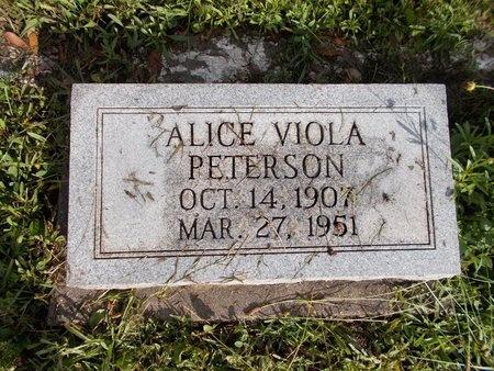 PETERSON, ALICE VIOLA - Hancock County, Mississippi | ALICE VIOLA PETERSON - Mississippi Gravestone Photos