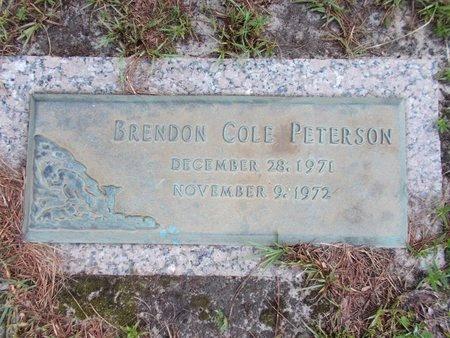 PETERSON, BRENDON COLE - Hancock County, Mississippi   BRENDON COLE PETERSON - Mississippi Gravestone Photos
