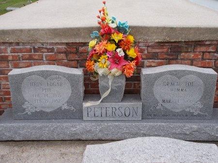 PETERSON, JOHN EDGAR - Hancock County, Mississippi | JOHN EDGAR PETERSON - Mississippi Gravestone Photos