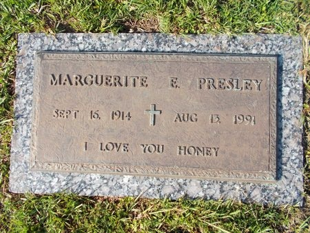 PRESLEY, MARGUERITE E - Hancock County, Mississippi | MARGUERITE E PRESLEY - Mississippi Gravestone Photos