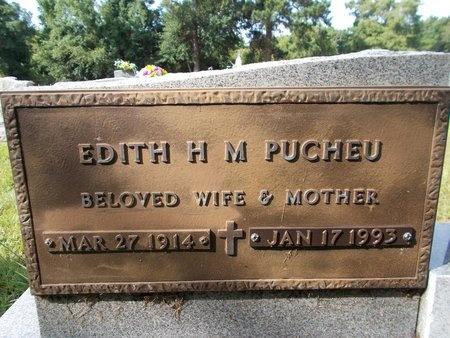 PUCHEU, EDITH H M (SECOND STONE) - Hancock County, Mississippi | EDITH H M (SECOND STONE) PUCHEU - Mississippi Gravestone Photos